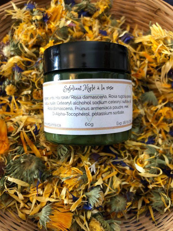 Exfoliant-miel-rose